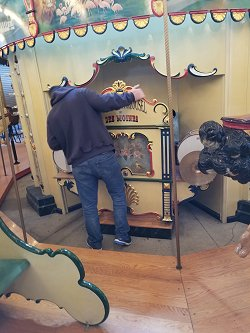 The Heritage Carousel of Des Moines, Iowa: Wooden menagerie carousel