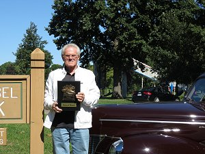 August 28, 2016 Cruise to the Carousel Car Show - Carousel Choice Award Winner Gene Poore and his 1940 Ford Sedan